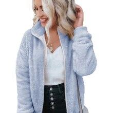Wipalo 2019 Plus Size Autumn Winter Women Jacket Multi-Color Plush Jack