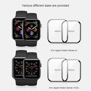 Image 5 - Dla serii iWatch 4 3 2 1 ochraniacz ekranu ze szkła Nillkin 3D AW + pełna pokrywa szkło hartowane do zegarka Apple Watch 38/40/42/44 MM