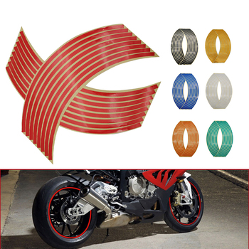 Motorcycle Wheel Sticker 3D Reflective Rim Tape Auto Decals Strips For BMW C 600 650 Sport C 650 400 GT F 650 700 GS F800GT image