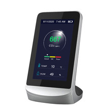 Profissional detector de dióxido carbono multifuncional qualidade do ar monitor detector gás pm2.5 hcho tvoc tester monitor medidor co2