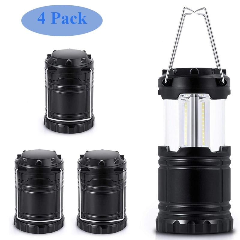 3*COB LED Camping Lamp Mini Portable AA Battery 350 Lumens Hanging Tent Lantern Outdoor Waterproof Handle Light Led Table Lamp
