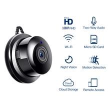 Hd 1080p câmera ip wi fi de segurança sem fio cctv câmera de vigilância visão noturna ir câmera em casa detecção de movimento pequena câmera