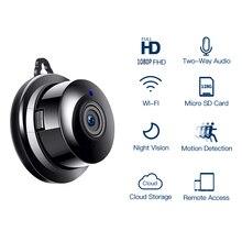 Hd 1080p ipカメラwifiセキュリティワイヤレスcctvカメラ監視赤外線ナイトビジョンホームカメラモーション検知小型カメラ
