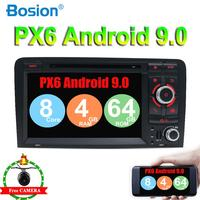 64G ROM Octa Cores car dvd player Android 9.0 for Audi A3 2003 2011 car radio with free map and canbus,camera