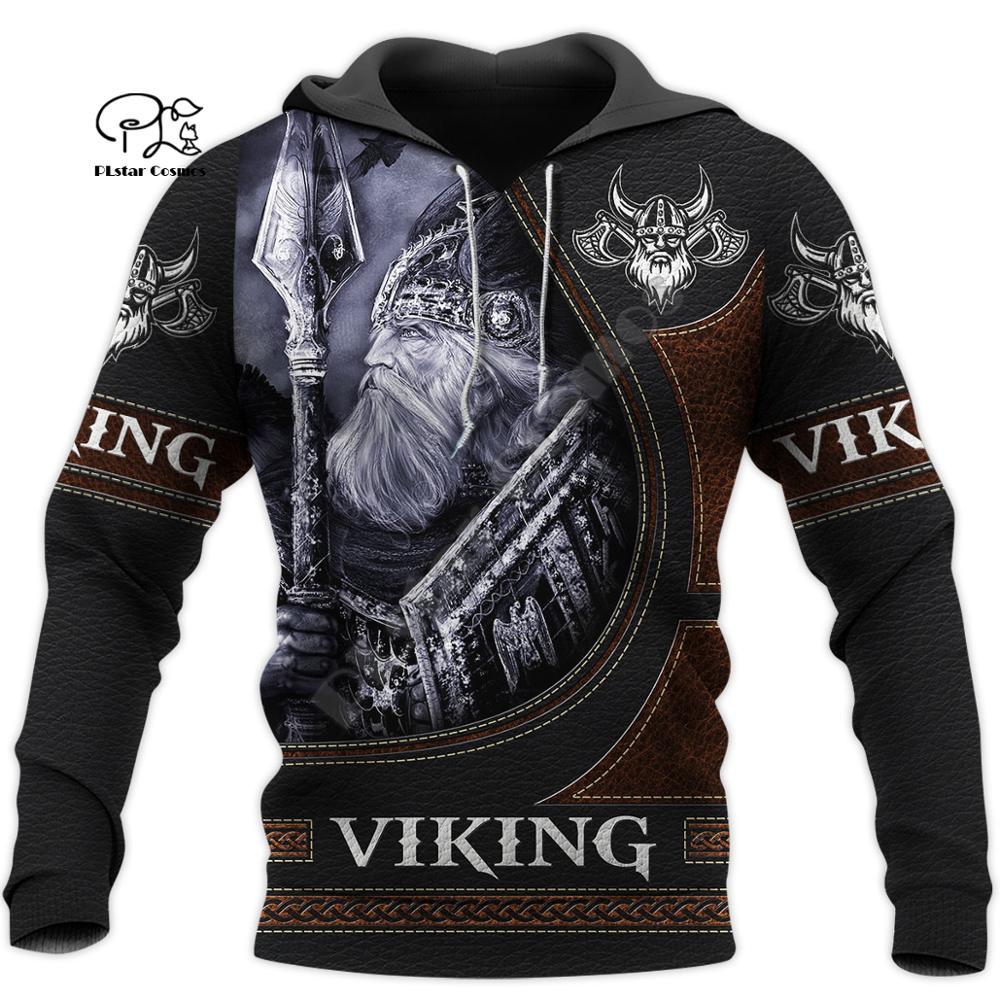 PLstar Cosmos Viking Armor Tattoo Warrior Viking God Odin Symbol NewFashion Tracksuit Harajuku Funny 3Dprint Men/Women Hoodie A8