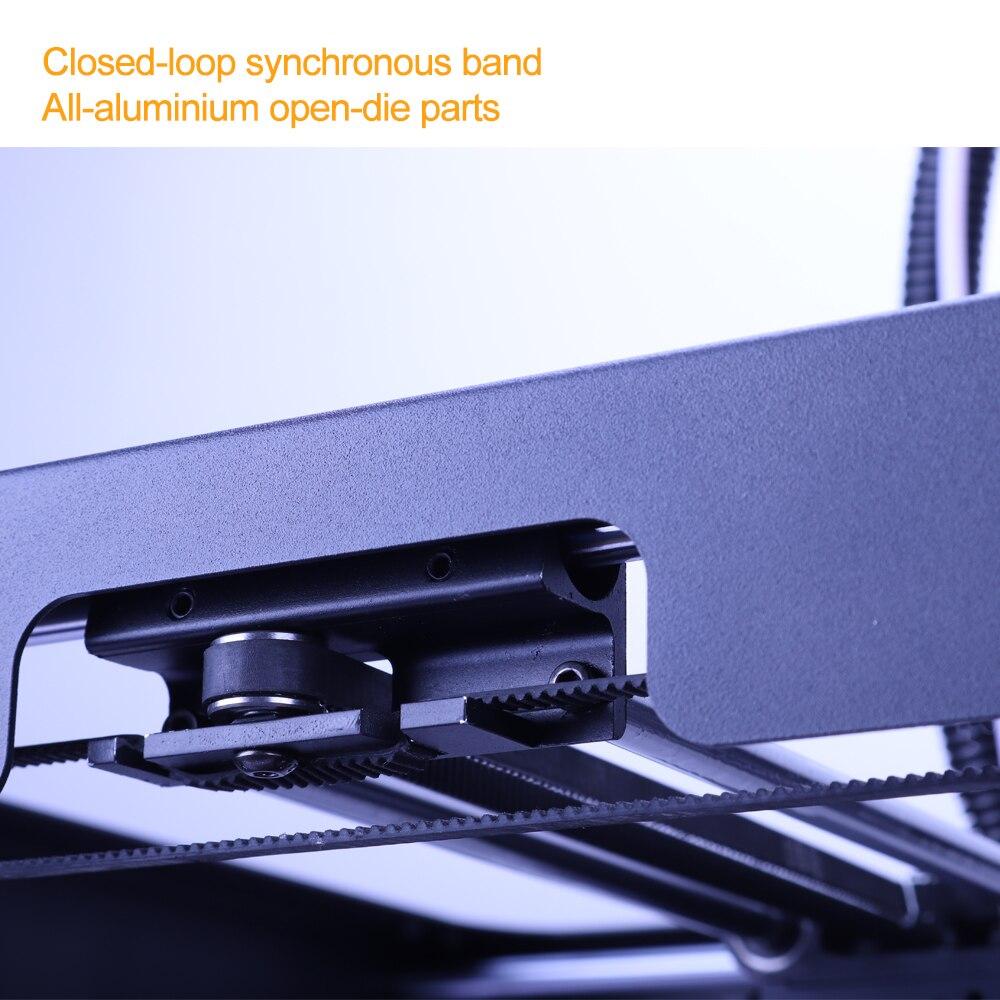 Nouvelle conception de Flyingbear-Ghost4S cadre entièrement en métal de haute précision bricolage imprimante 3d kit de bricolage plate-forme en verre Wifi - 3