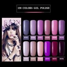 Modelones 12Pcs/Lot Fashion Purple Color Series UV Gel Nail