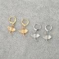 1 пара, милый слон, маленькие серьги-кольца для женщин, корейские модные шикарные круглые серьги-гвоздики золотого цвета, ювелирные изделия ...