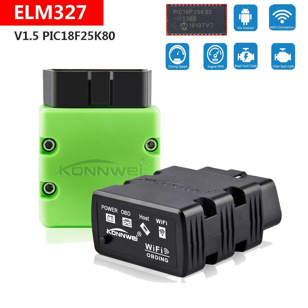 2020 KW902 Wifi V1.5 EML327 OBD2 Scanner Fault Code Tester Adapter Voor Renault Clio Espace Fluence Duster Koleos