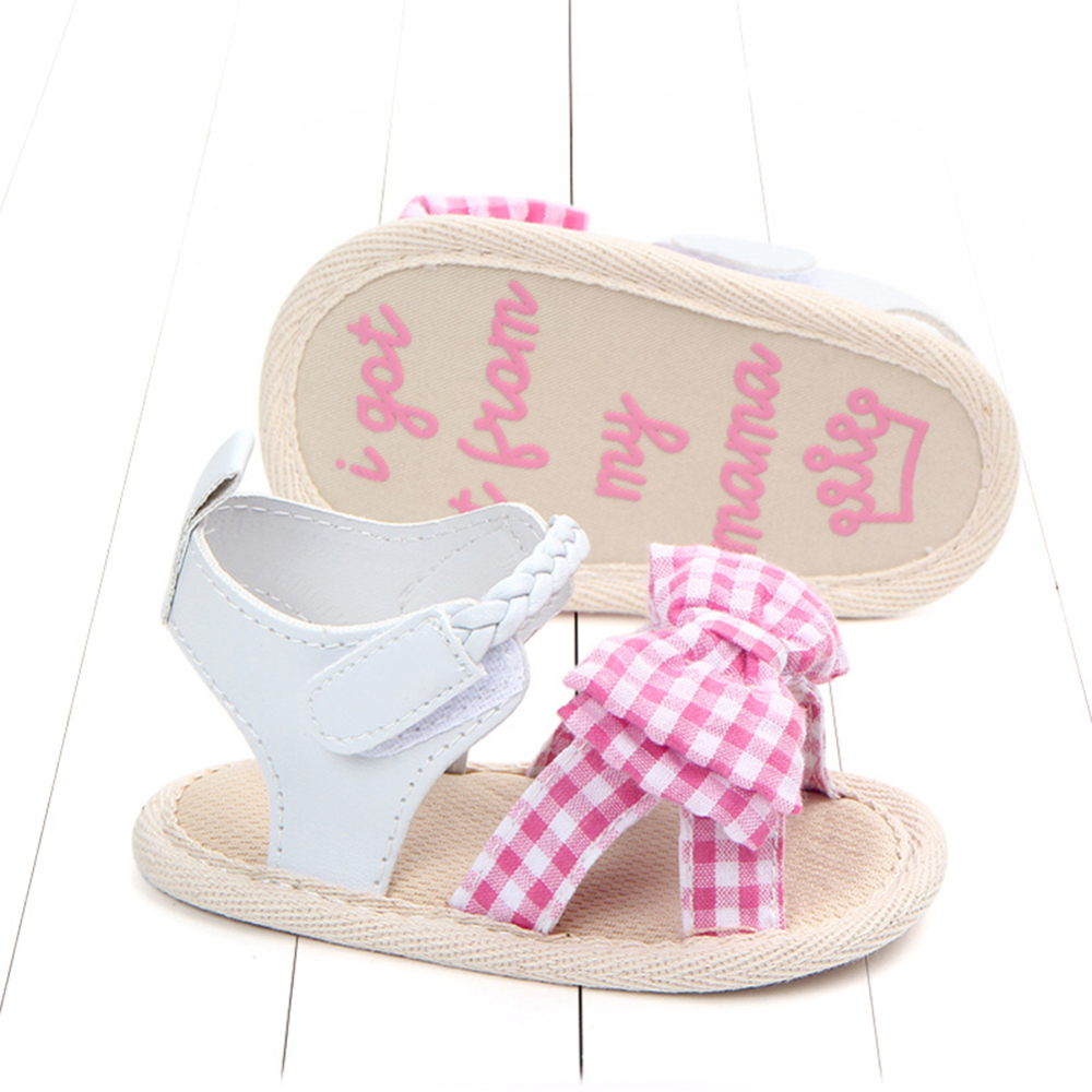 Summer Newborn Toddler Baby Girl Crib Shoes Soft Sole Anti-slip Princess Sandals