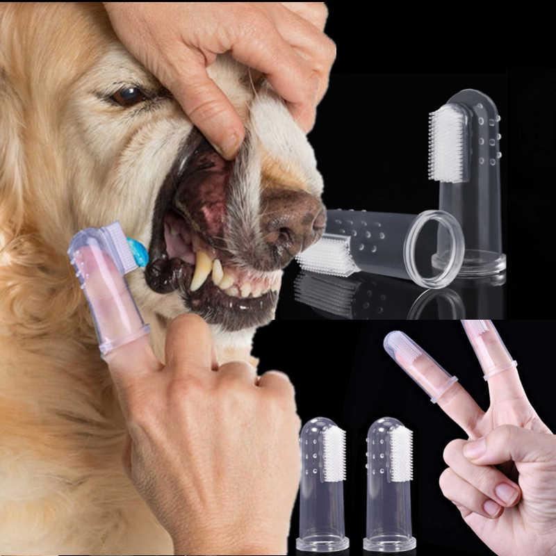 Pet Dito Spazzolino Da Denti Teddy Gatto Del Cane Super Soft Spazzola Alito Cattivo Tartaro Dei Denti Strumento Gattino Cucciolo Per La Pulizia Dei Denti Cura Accessorio