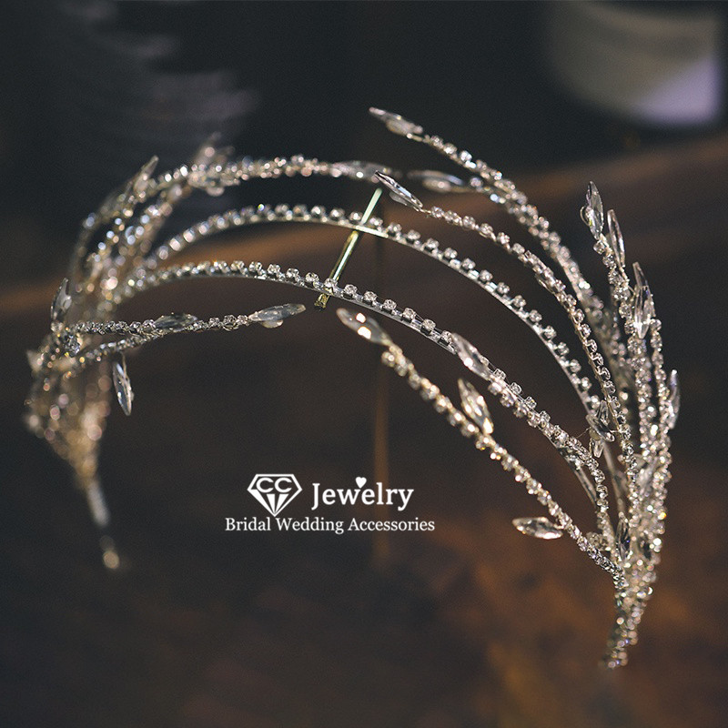 CC Hariabdns Headband Crown Wedding Accessories for Women Bride Hair Hoop Party Fashion Jewelry Crystal Luxury Headpiece AN03