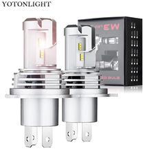 YOTONLIGHT 2 шт. мини Hi-lo H4 Led H7 H11 светодиодные лампы 9005 Hb3 автомобильные лампы светодиодные для фар H1 9006 Hb4 55 Вт 12000лм Противотуманные фары 6500 К 12 В