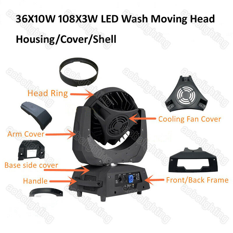Zoom Wash Moving Head LED 36*10W LED Wash Moving Heads Housing 108x3W Stage Light Parts Luces Para Dj