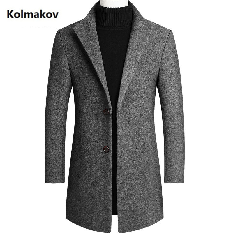 2020 new arrival Spring Autumn Windbreaker men's wool jackets ,men's warm coat,Fashion trench coat men size M-4XL