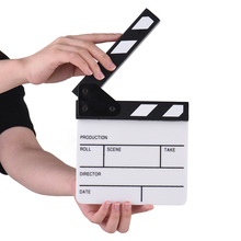 Compact Size Acrylic Clapboard TV Film Movie Director Cut Action Scene Clapper Board Slate