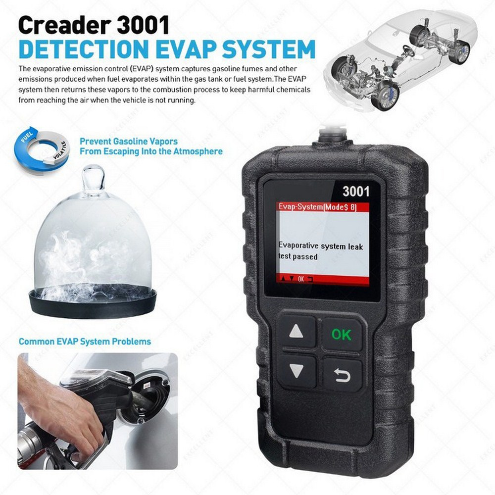1,77 дюймовый LAUNCH X431 CR3001 OBD2 сканер поддерживает полный OBD II/EOBD Creader 3001 12 В бензиновый и дизельный автомобильный сканирующий инструмент