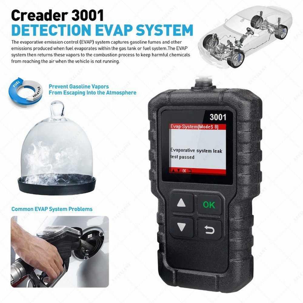 1.77 インチ起動 X431 CR3001 OBD2 スキャナサポートフル OBD II/EOBD Creader 3001 12V ガソリンとディーゼル車スキャンツール