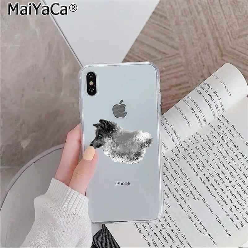 Maiyaca capa de celular personalizada, animal wolf, foto, para iphone se 2020 11 pro xs max 8 7 6 6s capa plus x 5 5S se xr