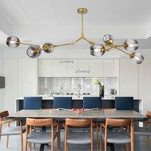 Скандинавский светодиодный светильник, подвесной светильник s Lustre, подвесной светильник для столовой, регулируемый Золотой/черный светильник, стеклянный подвесной светильник