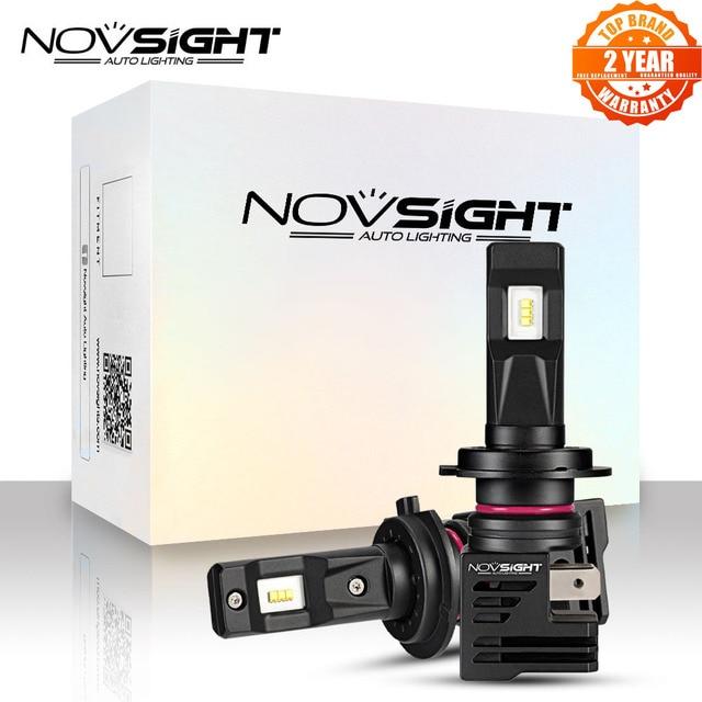 Novsight Super Mini H7 Led H4 Auto Koplampen H11 H8 H9 H16JP 9005 9006 H1 H3 55W 12000LM 6000K 12V Auto Koplamp