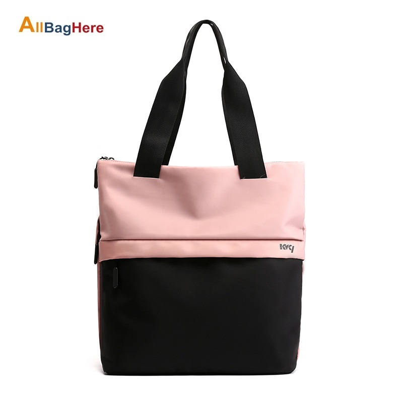Color Matching Travel Bag Large Capacity Lightweight Sports Fitness Ladies Handbag Nylon Waterproof Single Shoulder Travel Packs