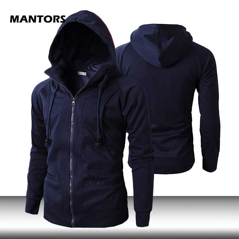 Mannen Sweater Lente Herfst Solid Hoodies Slim Fit Coltrui Hoodie Streetwear Hip Hop Mannen Hooded Sweater Jas Sportkleding