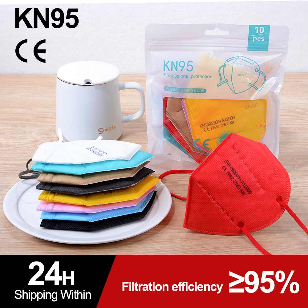 Resuable CE KN95 Mask FFP2 Dust Masks Protective 5 Layers Anti PM2.5 Anti Fog Colored FPP3 Mask Mascarillas FPP2 KN95 Certified