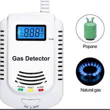 Plug-in Household Natural Gas CO Alarm Leak Sensor Detector With Voice Prompt and LED Display