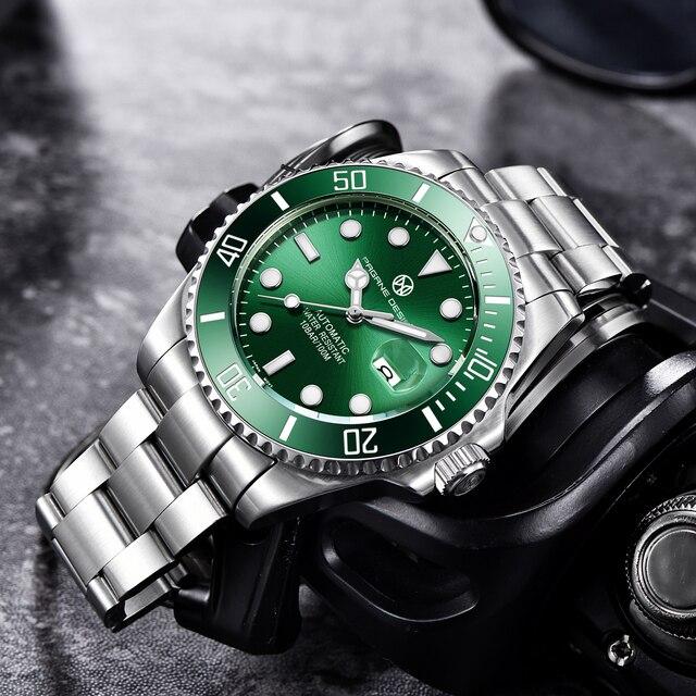 2020 PAGRNE DESIGN Top Brand Luxury Kelpie Series Watch Men Automatic Mechanical Wristwatch Stainless Steel Relogio Masculino 2