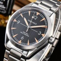41mm Corgeut ze stali nierdzewnej Miyota82 automatyczne mechaniczne zegarki na rękę 316L SS szafirowe szkło nurkowanie męska Watch band Luminous