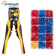HS-D1+270PCS  Multifunctional automatic wire stripping pliers Crimping tools AWG10-24 (0.2-6.0mm2 ) for insulated terminals