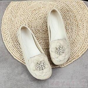 Image 4 - Модные женские туфли GKTINOO 2020 из натуральной кожи, лоферы, женская повседневная обувь, мягкая удобная обувь, женские туфли на плоской подошве с цветами