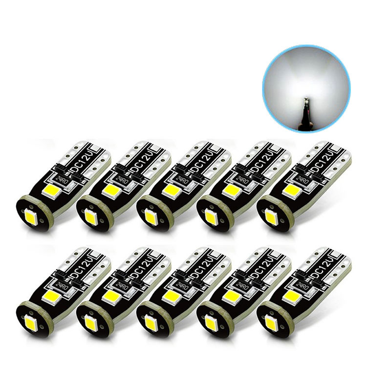 <font><b>10PCs</b></font> <font><b>T10</b></font> 3 SMD 3030 LED Auto Clearance Lights W5W 194 168 192 3SMD LED Car Door Light Reading Lamp Dome Bulb <font><b>Canbus</b></font> No Error image