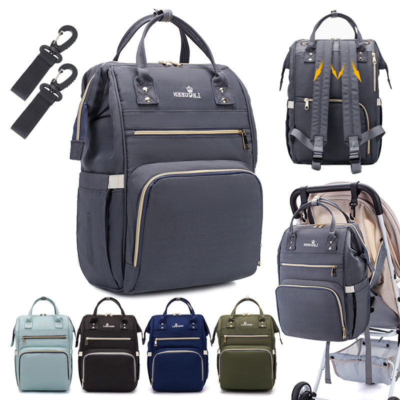 Lequeen Diaper Bag Maternity Backpack Large Capacity Baby Bag For Mom Mummy Bags Nursing Bag Travel Waterproof Nappy Bag