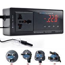 цена на AC-112 Outlet Thermostat 220V Digital Temperature Controller Aquarium Thermostat for Aquarium Heater, with Waterproof Sensor