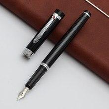 Alta qualidade médio nib 0.5mm caneta fonte preta marca de metal escola escritório estudo negócio caneta escrita presentes