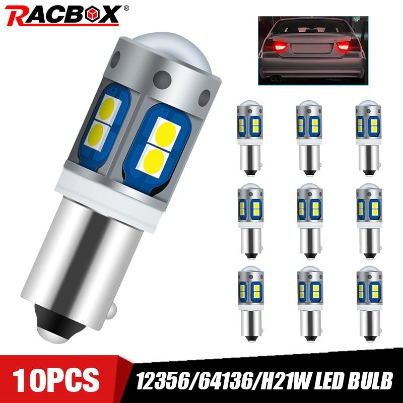 12356/64136/H21W/ BAY9s 120 ° Автомобильный светодиодный задний светильник белого цвета 6000K задний противотуманный светильник сигнальная Поворотная л...