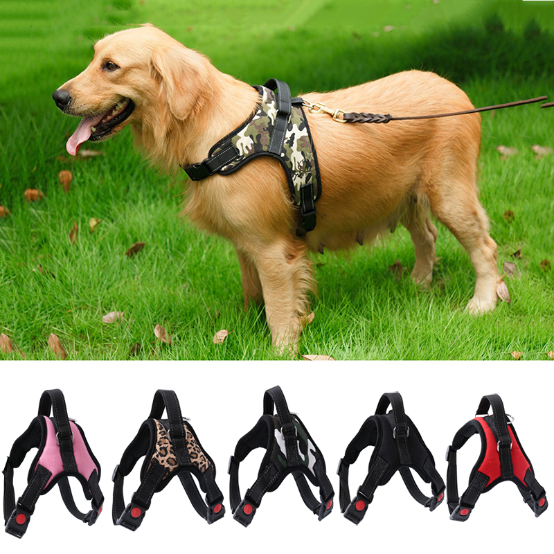 High Quality Comfortable Mesh Pet Harness Breathable Big Medium Dog Vest S-XL