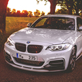 F22 глянцевый черный ABS авто передний бампер сетка гриль решетку для BMW F22 2014-2016 стайлинга автомобиля