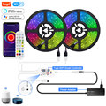 Tuya Smart LED Strip Lights WiFi RGB LED Light Strip 12V 5050 Work with Alexa Google Voice Remote Control 30LED/m Color Changing