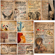5D Diamond Painting Full Square/Round Family Poster TO MY WIFE I LOVE YOU Diamond Embroidery Cross Stitch Home Decor Art Gift блюдо декоративное home philosophy 28 см i love my home 402171