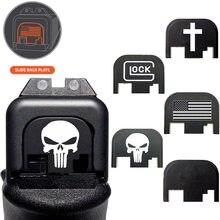 Magorui Glock Slide cubierta trasera placa Cubierta trasera, adecuado para Glock Gen 1-4