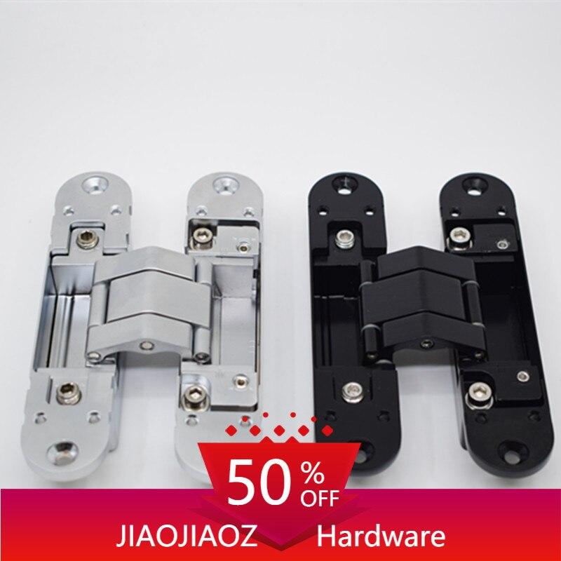 Bisagra oculta ajustable para puerta, bisagra invisible de 140x30MM, 60KG, para 2 bisagras, 3D