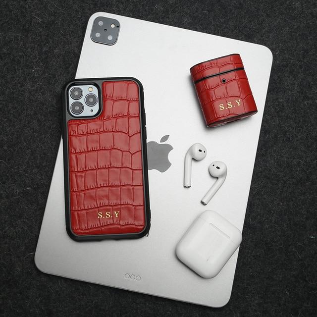 Horologii اسم مخصص مجاني لأفضل هدية مجموعة آيفون X XR 11 12 برو ماكس الحال بالنسبة ل AirPods غطاء صندوق دروبشيب