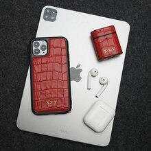 Horologii nazwa niestandardowa za darmo dla najlepszego zestawu podarunkowego dla iphone X XR 11 12 Pro Max etui i dla AirPods Cover Box Dropship