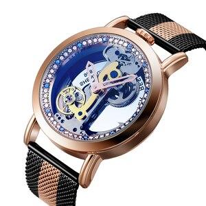 Image 5 - Vintage Automatic Mechanical Watches Men Tourbillon Transparent Skeleton Dial Self wind Steel Leather Steel Man Wristwatch Clock
