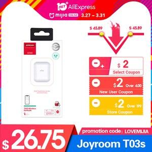 Image 2 - Joyroom T03S tws Binaural Wireless bluetooths 5.0 earphones In Ear True wireless  Airbuds Pop Up Window Gaming Gamer Earbuds