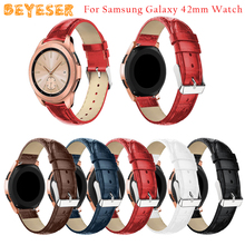 Crocodile pattern leather watch strap For Samsung Gear Sport/Gear S2 Watchband Replacement For Samsung Galaxy Watch Active bands цена и фото