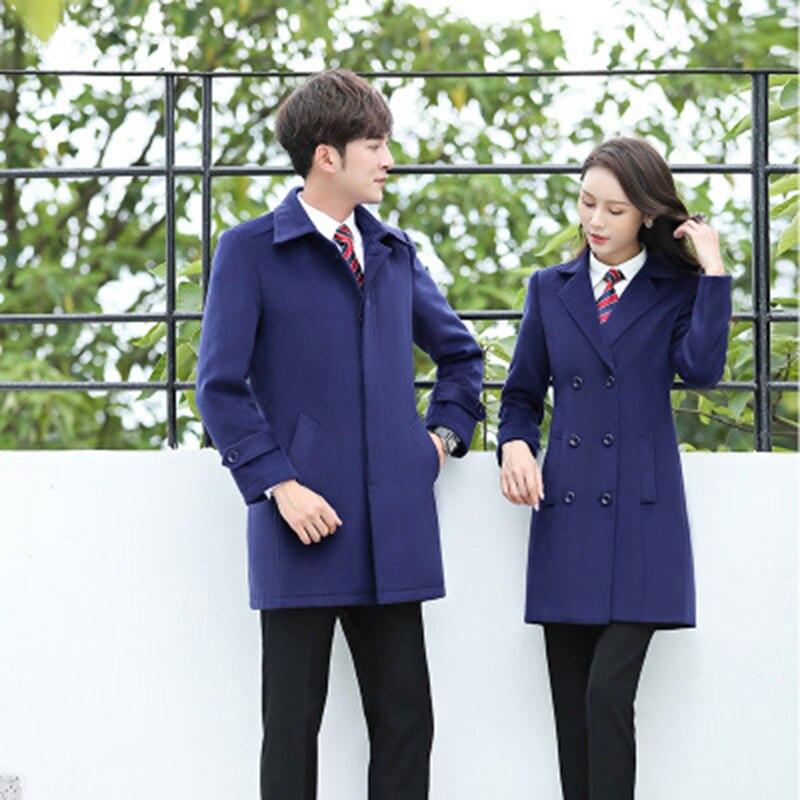 Winter Coat Women Korean Wool Coat Women Ladies Female Winter Blue Red Coats Jacket Monteau Femme Outwear Woman Autumn Winter